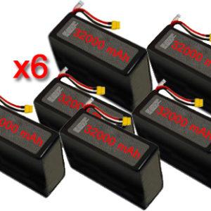 vendita batterie dji s800 s900 s1000 batterie lipo 6s 32000 x6