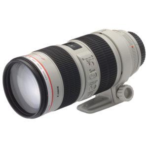 noleggio obbiettivo canon ottica 70-200