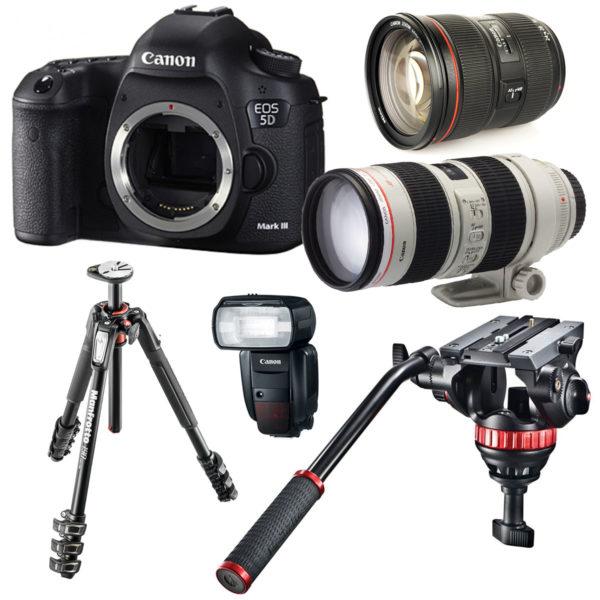 noleggio canon kit professionale