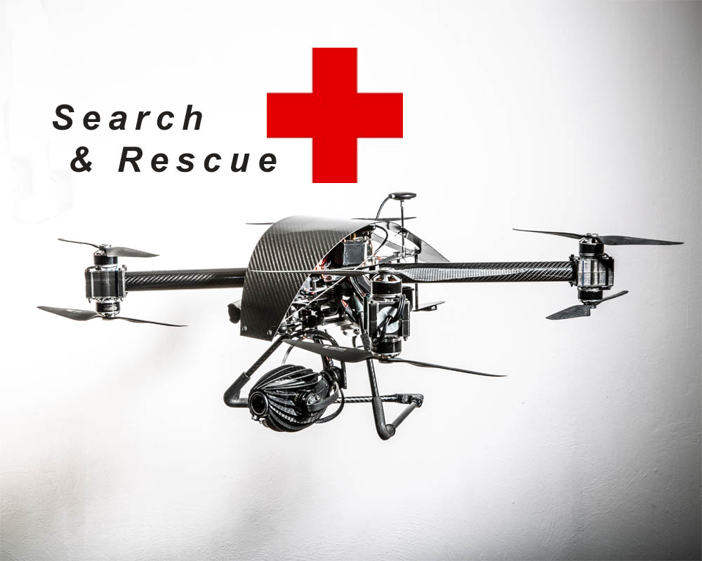 drone con termocamera per ricerca e soccorso